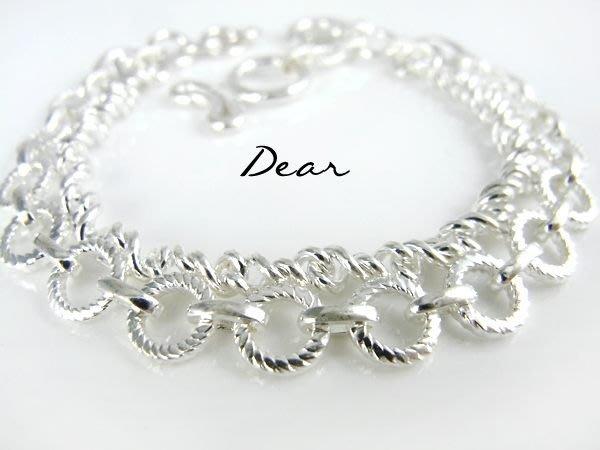 ◎【 Dear Jewelry 】◎ 生日禮物-老師傅的手創手工銀手鍊│厚工用料---免運