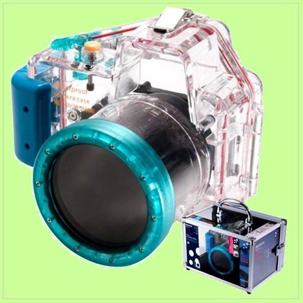 5Cgo【權宇】Kamera Sony NEX-5N (18-55mm) 潛水殼 40米以內 (KCE-18)-藍 含稅
