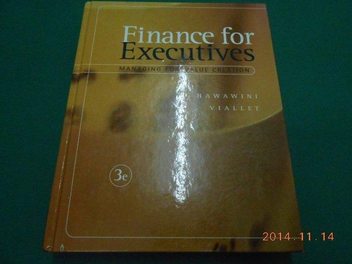 《Finance for Executives》八成新 精裝本 有劃記,摺痕,輕微黃斑【CS超聖文化2讚】