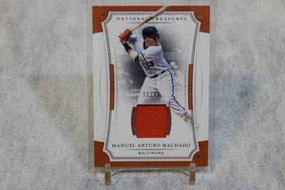 金鶯球星~Manny Machado~2017 National Treasures 國寶~限量99張球衣卡