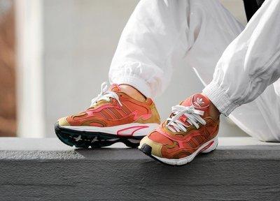 南◇2019 5月 ADIDAS TEMPER RUN G27922 粉橘色 男女 慢跑鞋 老爹鞋 愛迪達 復古