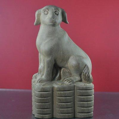 宋家沉香奇楠twshawnanShawdog.1台灣三峽肖楠所雕嘯天犬.腳踏金錢磚.當作擺飾是最好的風水裝飾