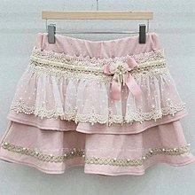 【莉莎小屋】正韓 秋冬新品(現貨-粉色) 💝蝴蝶結花朵點紗荷蕾絲雙層裙褲👚👖E201009