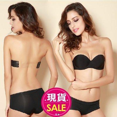 【JD Shop】一片式胸罩 側翼無黏性無肩帶無痕隱形胸罩 1/2上薄下厚款 婚紗 洋裝 隱形內衣 美背內衣
