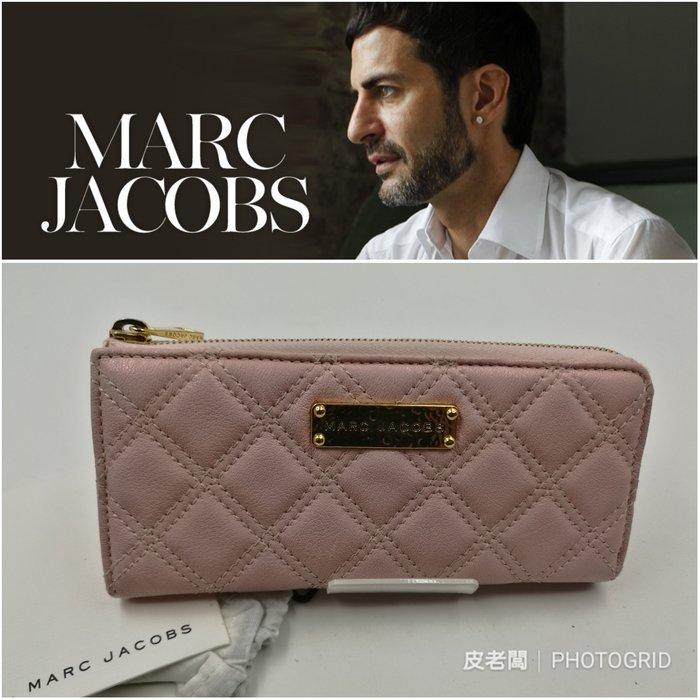 【皮老闆】近全新真品 MARC JACOBS 菱格紋 皮夾 長夾