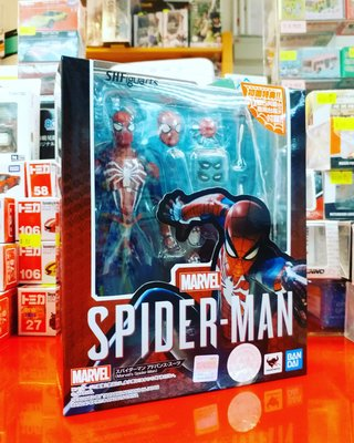 全新 Bandai SHF PS4 Marvel Spiderman 蜘蛛俠 連 初回特典