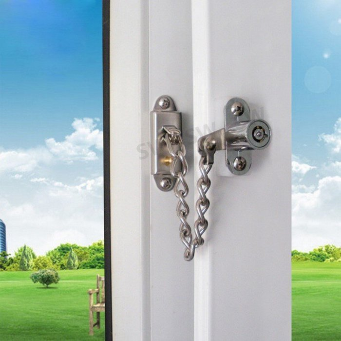 LL008 推窗安全定位鎖 推射窗鎖 防盜鏈 防盜鎖 鏈鎖 窗鎖 兒童鎖/防盜鎖/兒童安全鎖防墜鎖/紗窗/紗門/鋁門窗