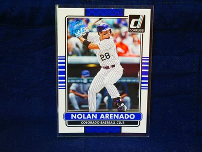 Nolan Arenado 2015 Donruss Hot off the Press 藍印平行卡