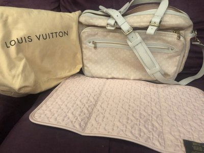 Louis Vuitton Monogram Mini Lin Diaper Bag 波士頓手提/斜背媽媽包/尿布包