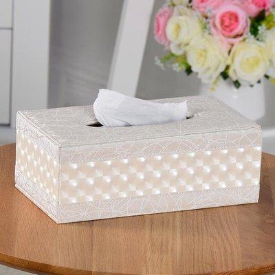 ✿生活館✿皮面紙盒歐式創意復古抽紙盒 簡約家用客廳茶幾餐巾紙盒定制廣告