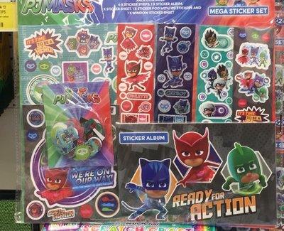 英國pjmasks sticker set