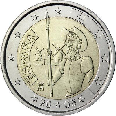 【幣】2005 EURO 西班牙發行唐吉軻德 2歐元紀念幣(代售)