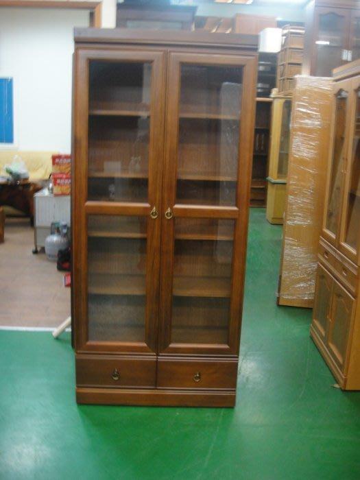 樂居二手家具館 台中二手傢俱買賣 BN-888*全新書櫃 原木樟木書架 高低櫃 玻璃展示架 模型收納櫃 酒櫃*便宜家二手