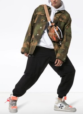 OFF-WHITE branded camouflage jacket