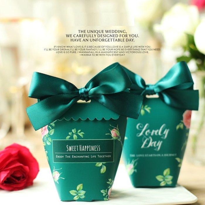 婚禮喜糖盒小禮盒 莊園風歐式粉色婚禮喜糖盒創意婚慶結婚喜糖袋(同色30個)  _☆找好物FINDGOODS ☆