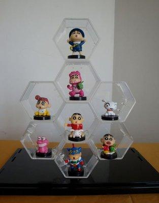 ✡潮萌精品屋✡ 壓克力 菱形 展示盒 公仔盒  透明盒 展示架 (可任意組合形狀) (6個一組)(無蓋子)