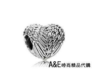 A&E精品代購 Pandora 潘朵拉 潘朵拉 愛心羽毛造型串珠 925純銀 Charms 美國代購