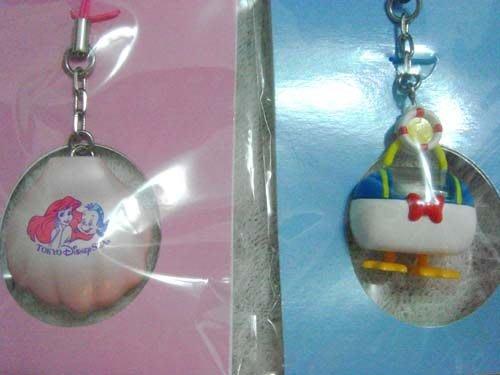 日本帶回Disney迪士尼樂園 小美人魚貝殼造型手機吊飾包包掛飾拉鍊掛飾