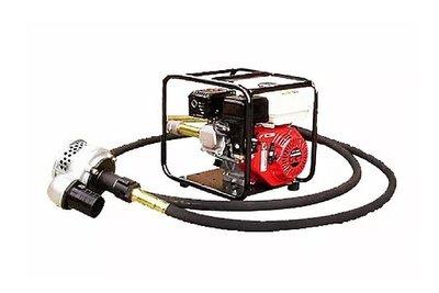 【 川大泵浦 】HONDA GX-160 5.5HP四行程引擎附6M軟管泵浦 (套裝組) 工地排水專用
