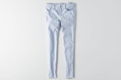 Maple麋鹿小舖 American Eagle * AE 淺藍色合身長褲JEGGING * ( 現貨6R號 )