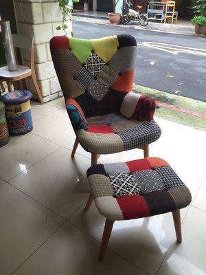 【 一張椅子 】復刻版 拼布花瓣椅 R...