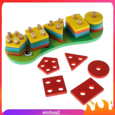 Wooden Shape Sorter Board Wooden Sorting Stacking