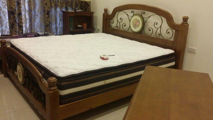 美生活館 全新 鄉村家具 玫瑰花園 6*6.2 尺 銅柚色 雙人床 無現品 訂購後才製作 顏色 彩繪圖案皆可選 歡迎詢問