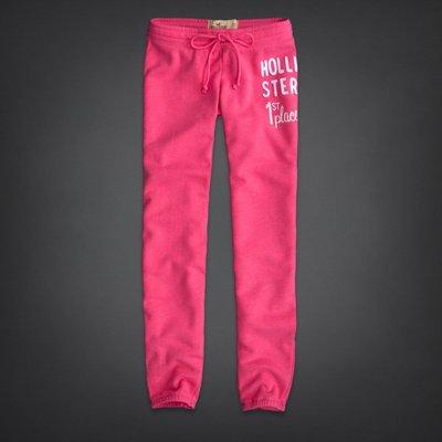 HOLLISTER 女 CLASSIC BANDED 棉褲 粉紅色 全新 現貨 尺寸 M