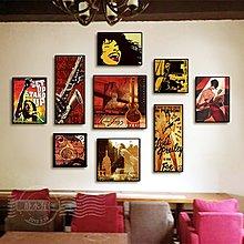 酒吧裝飾畫個性創意掛畫餐廳無框畫玄關掛畫複古球廳創意海報畫(9款可選)