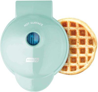 【EASY_BUTY】{現貨} 美國 DASH 迷你鬆餅機  Waffle Maker 水綠色 代購 特惠$777