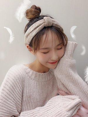 髮夾髮箍邊夾發卡髮圈甜美可愛森系少女絲絨發帶韓國簡約百搭寬面洗臉發箍學生發飾