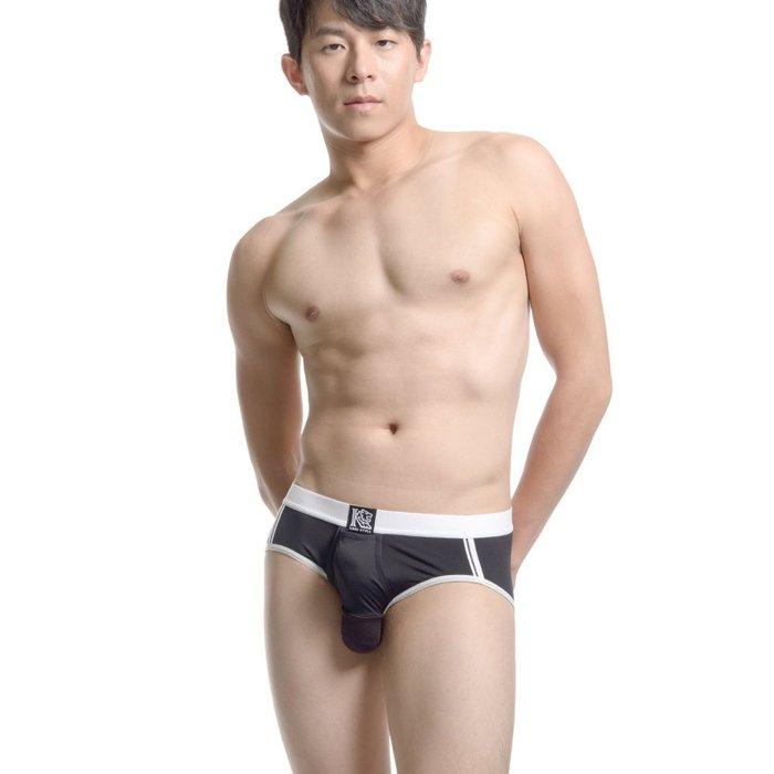 KING STYLE 世界專利 全機能囊袋內褲【貨號PLC-377-BK】C型陰莖向上→男性三角內褲