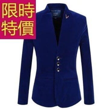 西裝外套 男西服(單外套)-保暖英倫風潮流率性3色59t47[韓國進口][米蘭精品]