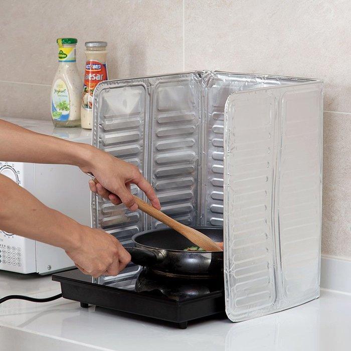 品如衣櫃 置物架 调料盒 居家家 防濺油擋板擋油板廚房煤氣灶隔熱用品 灶臺炒菜鋁箔隔熱板