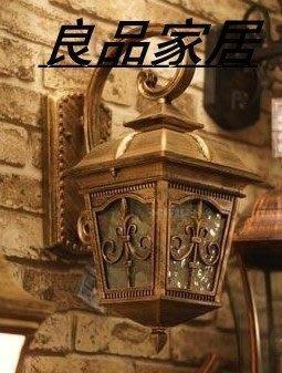 【優上精品】高檔戶外燈古銅色復古防水戶外壁燈別墅花園燈陽臺燈(Z-P3162)