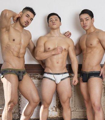 GX3日本設計.免運【K1194】【L 號】 GOOUT 系列 U凸囊袋迷彩超级低腰男三角內褲底褲.Jn男潮內著