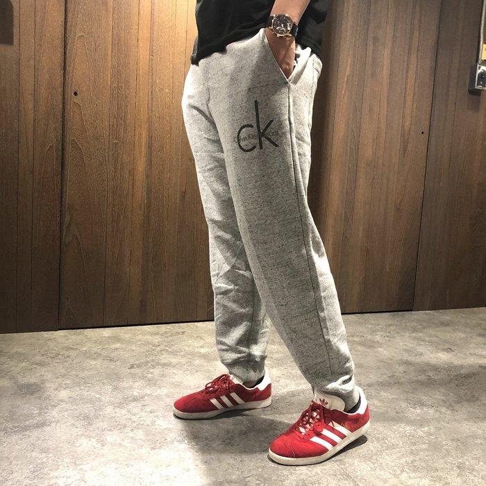 美國百分百【全新真品】Calvin Klein 棉褲 CK 休閒褲 長褲 jogger 縮口束口 褲子 灰色 I719