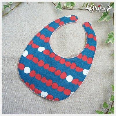 ♥gritas handmade♥純棉手作嬰幼兒圍兜兜/領巾/口水巾/三角巾/彌月禮—北歐風點點雙色