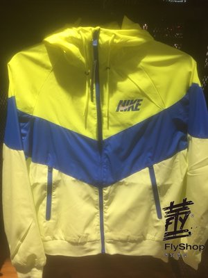 [飛董] NIKE WINDRUNNER 運動 連帽外套 風衣 拼接 防風 男裝 AJ1397-716 藍黃