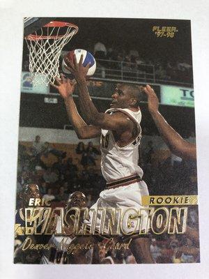 Eric Washington #272 RC 1997-98 Fleer 新人卡