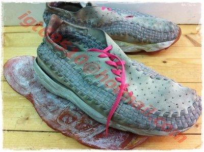 Nike Air Footscape Woven Chukka 灰粉紅 灰色 麂皮 編織鞋 側綁  藤原浩 陳冠希潮鞋三層重拆重黏 新北市