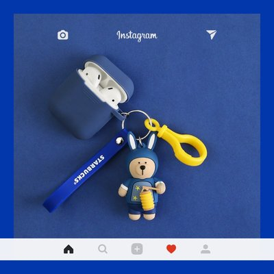 藍芽耳機airpods保護套 星巴克小熊airpods2保護套蘋果無線耳機盒子套入耳式耳機硅膠殼