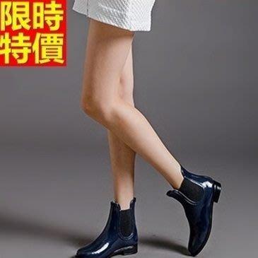 短筒雨靴子 雨具-歐美時尚撞色簡約女雨鞋子2色66ak45[獨家進口][米蘭精品]