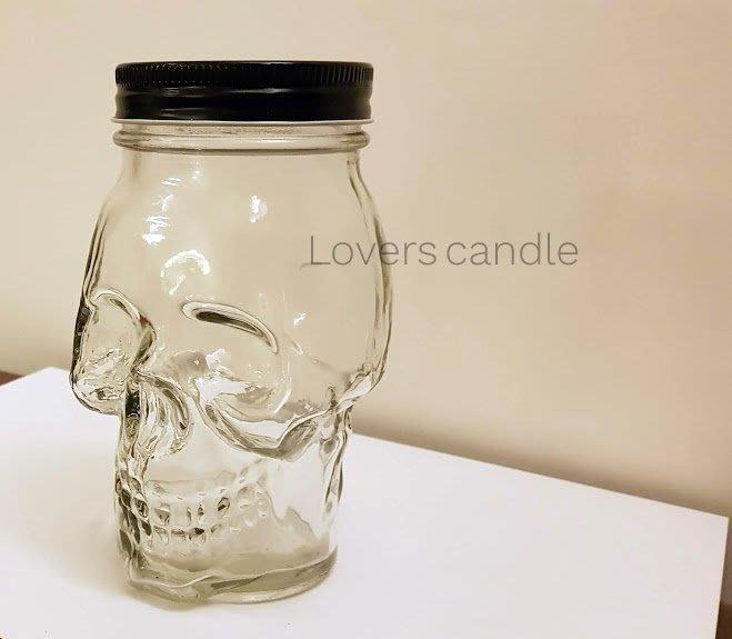 骷髏蠟燭玻璃瓶,暗黑系蠟燭,個性蠟燭瓶,玻璃瓶