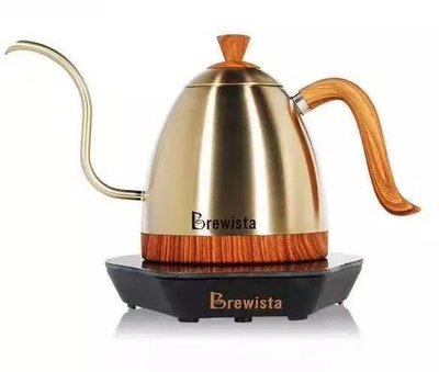Brewista Artisan 600ml不鏽鋼溫控細嘴壺.香檳金色 手沖壺.細嘴壺.英國進口Strix溫控系統