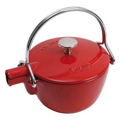 法國Staub 鑄鐵 水壺 茶壺 1.15 L  16.5CM 圓形 法國製 (櫻桃紅) 耶誕禮物 尾牙贈品