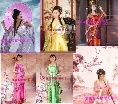 【玫瑰生活館】~ ~貴妃服~有胡蝶結 ~黃,粉紅,黑紅,綠,梅紅 ,紫 只有小孩款