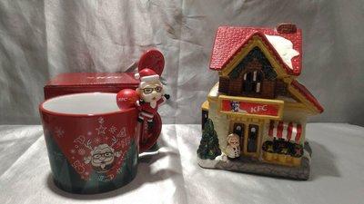 肯德基2017聖誕金勾杯+歡樂聖誕屋(全新未使用)