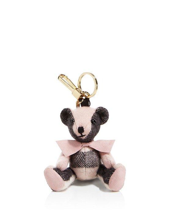 Coco小舖 Burberry Thomas Check Bear Bag Charm 粉紅色格子泰迪熊吊飾