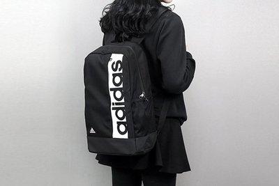 自售 全新 Adidas 運動後背包 後背袋 書包 黑白 Logo S99967 側口袋可裝水壺 筆電 健身 籃球 帆布